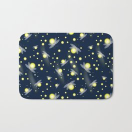 Fireflies at Night Bath Mat