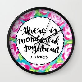 Wonderful Joy Wall Clock