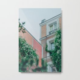 Paris Pastel House Marais | Travel Photograpy Color Metal Print