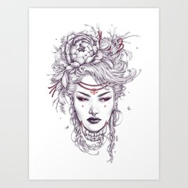 Fox Witch 1 Art Print