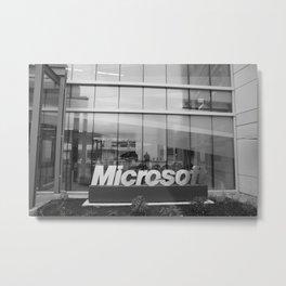 Microsotf Sign Building Metal Print