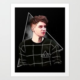 Dan Howell Grid Sweater | Digital Painting Art Print