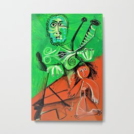 Pablo Picasso - Man and child - Digital Remastered Edition Metal Print
