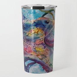 Wild Watercolor Octopus Travel Mug