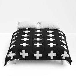 Swiss Cross Black Comforters