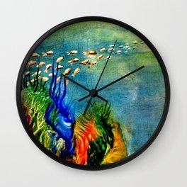 Fish Swarm Wall Clock