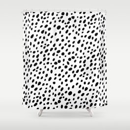Dalmatian Spots Shower Curtain