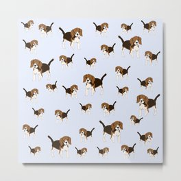 Baymax Beagle Metal Print