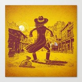 The Last Showdown - The bad guy Canvas Print