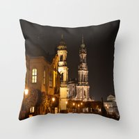 baroque Throw Pillows featuring Dresden Baroque  by DuniStudioDesign
