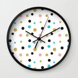 Modern multicolors dots pattern Wall Clock