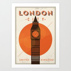 Vintage London Big Ben Poster Art Print