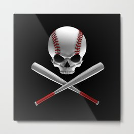Phantom Ballplayer Metal Print