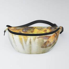 Bees and Flowering Plants Watercolor Fanny Pack