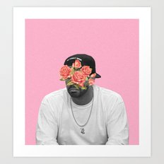DRAKE // FLORAL Art Print
