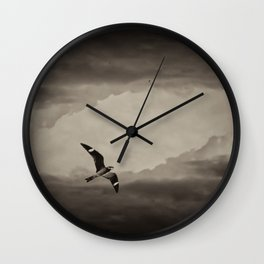 Nighthawk Flight Through Time Wall Clock