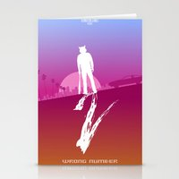 hotline miami Stationery Cards featuring Enjoy The Violence - Hotline Miami 2 Minimalist Poster 2 by Marco Mottura - Mdk7