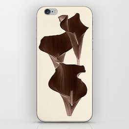 Brown Calla Lilly. iPhone Skin