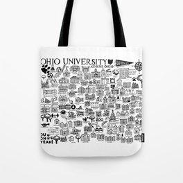 Ohio University Map Tote Bag