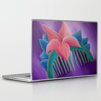 mulan Laptop & iPad Skins featuring Mulan Flower by Jgarciat