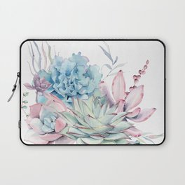 Pretty Pastel Succulents Laptop Sleeve