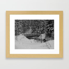 Snowshoe Bridge Framed Art Print