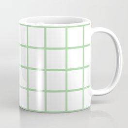 Mint Grid Pattern Coffee Mug