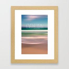 LOVE THE OCEAN II Framed Art Print