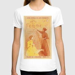 Art by women art nouveau ad drawing T-shirt