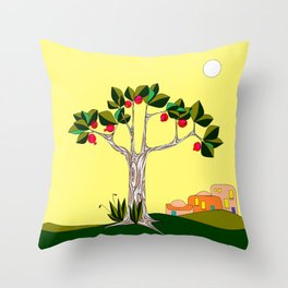 A Pomegranate Tree in Israel in the Day Throw Pillow