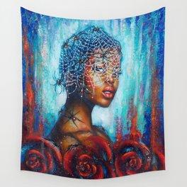 Black widow Wall Tapestry