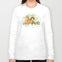 jon snow Long Sleeve T-shirts featuring A Wobbly Pair by Teagan White