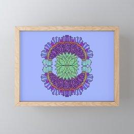 Flower Hand Fan Framed Mini Art Print