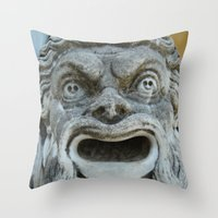 scream Throw Pillows featuring scream by death above