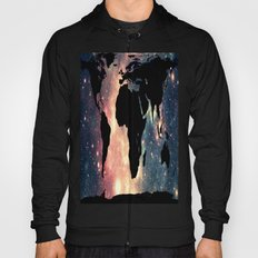 World Map Mauve & Teal Space Hoody