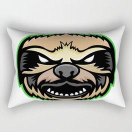 Angry Sloth Mascot Rectangular Pillow