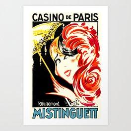 Vintage Cabaret Ad Mistinguett Art Print
