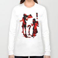 mom Long Sleeve T-shirts featuring Mom by Violet Vibrance