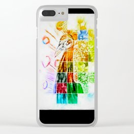 The Puzzled Peacock Clear iPhone Case