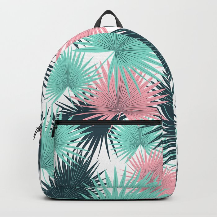 Pastel Palm Leaves Backpack