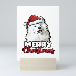 Merry Christmas Samoyed Dog Lover Gift Mini Art Print