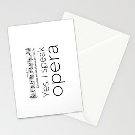 I speak opera (mezzo-soprano) Stationery Cards