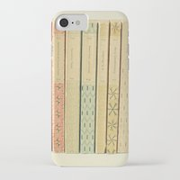 teal iPhone & iPod Cases featuring Old Books by Cassia Beck