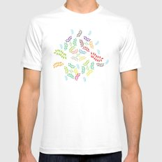 ORGANIC & NATURE (COLORS) White Mens Fitted Tee MEDIUM