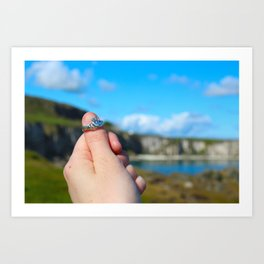 Claddagh Ring in Ireland Art Print