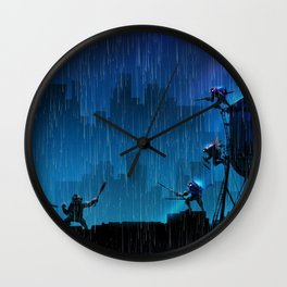 Rooftop Rumble Wall Clock