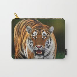 Tiger on Green Carry-All Pouch