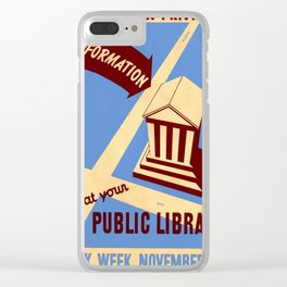 Vintage poster - Book Week Clear iPhone Case