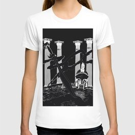 300 Black and White T-shirt