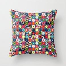 hex diamond purple Throw Pillow